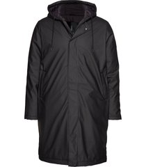 padded coat parka jas zwart rains