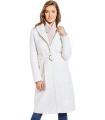 abrigo maria coat blanco guess
