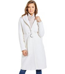 abrigo maria coat blanco guess
