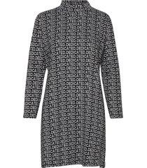dress lo dedicated jacquard knälång klänning svart dedicated