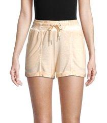 max studio performance women's fiji drawstring shorts - sand - size l