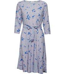 2nd june camo jurk knielengte blauw 2ndday