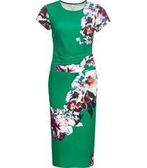 abito midi a fiori (verde) - bodyflirt boutique