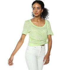 camiseta verde mng