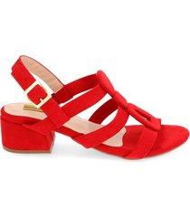 sandalia medium roja para mujer petra sandalia medium petra rojo-35