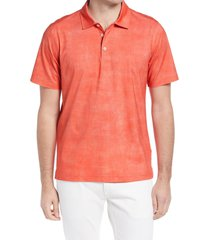 men's bugatchi ooohcotton tech short sleeve polo shirt, size x-large - red