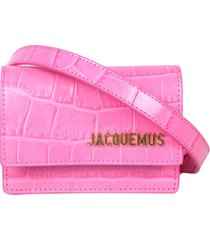 jacquemus crocodile print belt bello bag