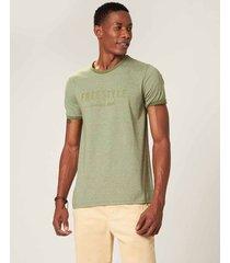 camiseta slim free style moulinê malwee verde musgo - g