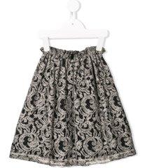 andorine flared lace skirt - grey