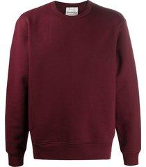 acne studios round neck sweatshirt - red
