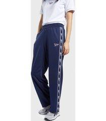 pantalón de buzo reebok cl f vector tape pants azul - calce regular