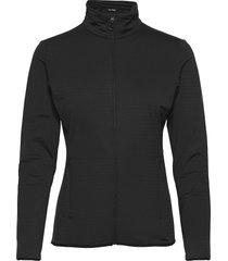 outrack full zip midlayer black sweat-shirts & hoodies fleeces & midlayers svart salomon