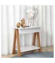 mesa cavalete vintage amêndoa branco casah
