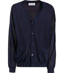 etudes slouchy cardigan - blue