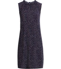 women's halogen gathered neck knit dress, size x-large - blue