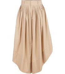 asymmetrical drape trouser