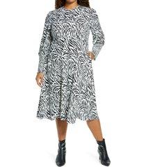plus size women's halogen tie back long sleeve dress