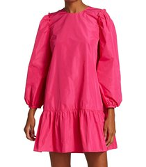 cinq à sept women's jackie puff-sleeve mini dress - pink azalea - size m