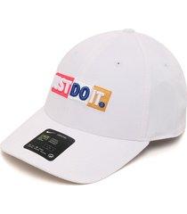 gorra blanco nike u nsw l91 cap jdi block
