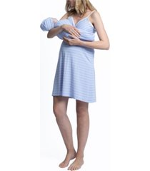 blooming women by angel nursing nightie with baby sack and beanie set