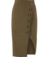 pinko bontan button pencil skirt