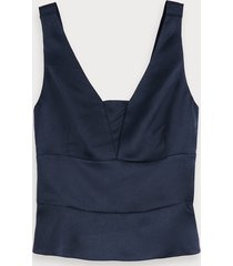 scotch & soda glanzende getailleerde tanktop