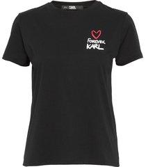 forever karl tee t-shirts & tops short-sleeved svart karl lagerfeld