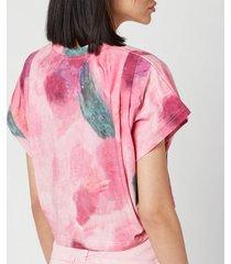 isabel marant women's zinalia top - pink - fr 36/uk 8