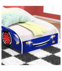 cama carro 96 solteiro - royal / branco - rpm móveis