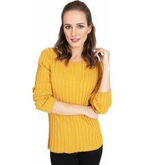 sweater privilege amarillo - calce ajustado