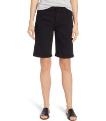 women's jen7 by 7 for all mankind rolled cuff stretch cotton bermuda shorts