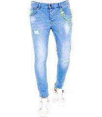 skinny jeans lf lichte jeans verfspatten