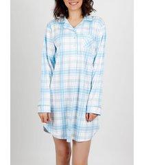 pyjama's / nachthemden admas laten we het doen met lange mouwen nachtjapon blauw adma's