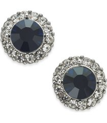 charter club gold-tone pave & stone halo stud earrings, created for macy's