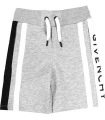 givenchy grey cotton logo jersey shorts