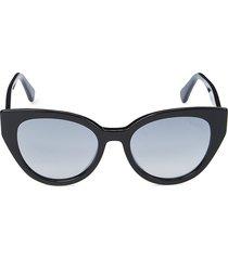 roberto cavalli women's 53mm cat eye sunglasses - black