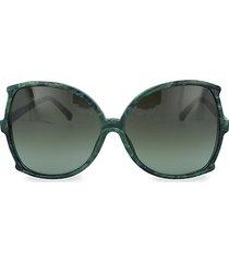 64mm oversized square novelty sunglasses