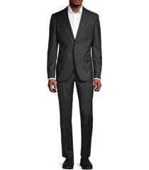john varvatos star u.s.a. men's standard-fit wool suit - black - size 38 r