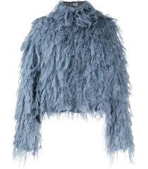 ports 1961 mohair oversized knit top - blue