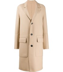ami unstructured buttoned coat - neutrals