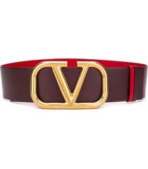 valentino garavani vlogo reversible belt - purple