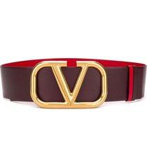 valentino valentino garavani vlogo reversible belt - purple