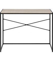 biurko na metalowej podstawie kane dąb sonoma