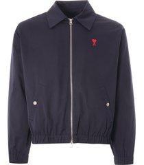 ami ami de coeur zipped jacket | navy | h0w013.288