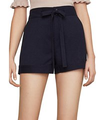 cuffed tie-front shorts