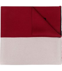 etro red and white wool scarf