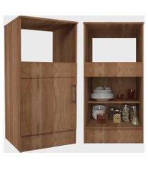 conjunto cozinha compacta marajó c/ 5 portas 2 gavetas montana nova mobile marrom