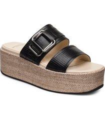 felicia sandalette med klack espadrilles svart vagabond
