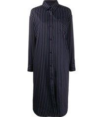 han kjøbenhavn oversized striped shirt dress - blue