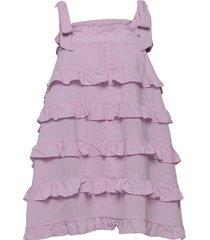 carla dress kort klänning rosa by malina